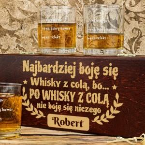 zestaw szklanek do whisky z grawerem na prezent urodzinowy