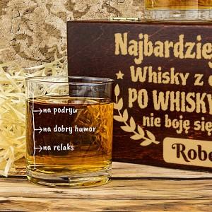 szklanka do whisky z personalizacją na prezent