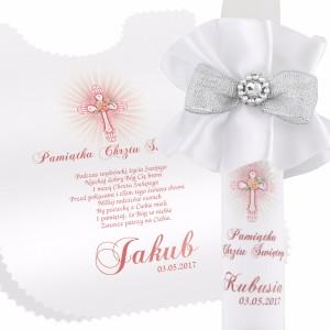 personalizowana szatka na pamiątkę chrztu świętego