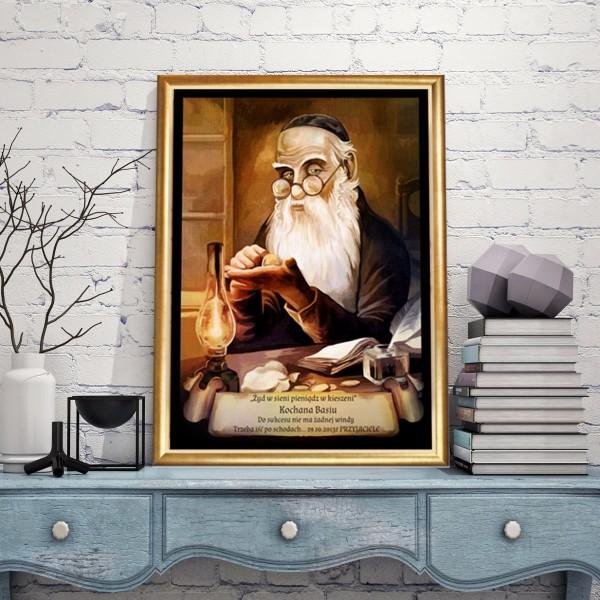 personalizowany obraz Żyd na szczęście na prezent