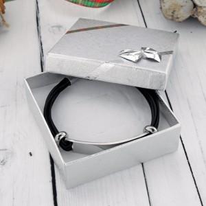 męska bransoletka z personalizacją na prezent świąteczny