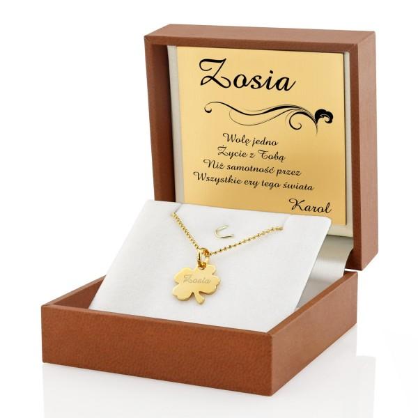 damska biżuteria z grawerem na prezent