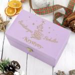 skrzynka na herbatę z personalizacją na prezent na święta