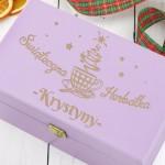 świąteczna skrzynka na herbatę na prezent dla niej
