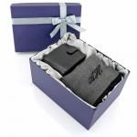 szalik z portfelem na prezent na święta