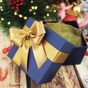 eleganckie pudełko na prezent na święta