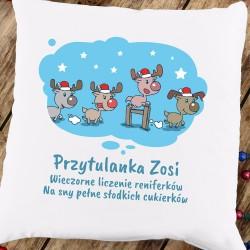 poduszka na prezent pod choinkę dla dziewczynki