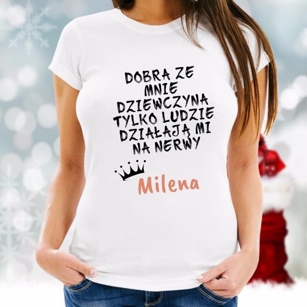 koszulka z nadrukiem na prezent dla dziewczyny