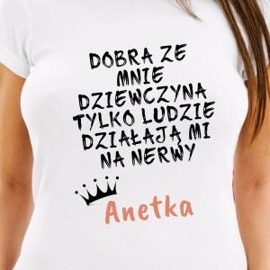 zabawna koszulka na prezent dla dziewczyny