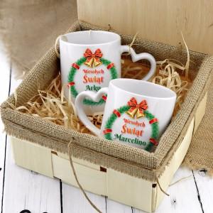 kubki z nadrukiem na prezent świąteczny dla pary