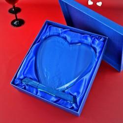 szklane serce statuetka na prezent dla pary młodej
