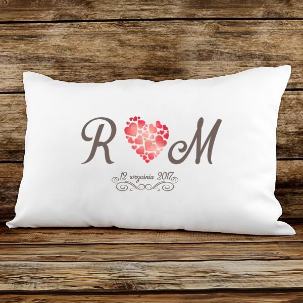 poduszka z nadrukiem na prezent dla pary
