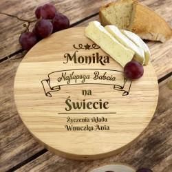 deska do serwowania serów z dedykacją na prezent na dzień babci