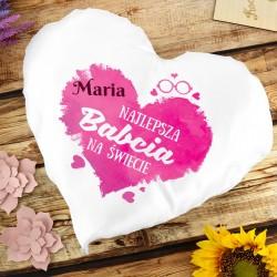 poduszka z personalizacją na prezent dla babci