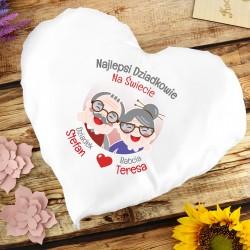 poduszka serce dla babci i dziadka na prezent