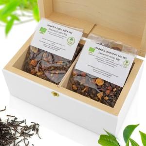 zestaw herbat w skrzynce z grawerem