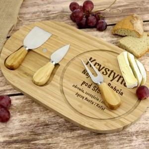 deska z grawerem do serów na prezent dla babci