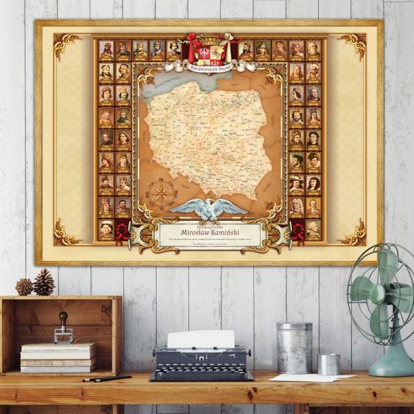 mapa z dedykacją dla dziadka