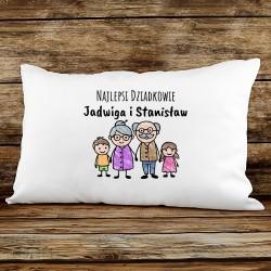 poduszka z nadrukiem na prezent dla dziadków