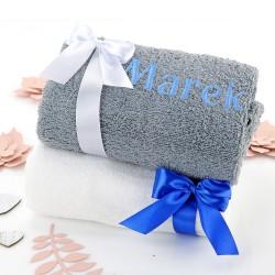 ręcznik z haftem na prezent dla dziadka i babci