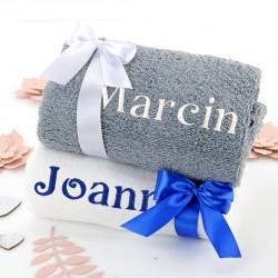ręczniki z haftem na prezent dla babci i dziadka