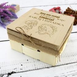 koszyk prezentowy dla babci i dziadka z personalizacją