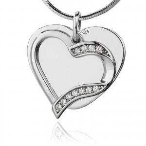 srebrna biżuteria z grawerem na prezent na walentynki