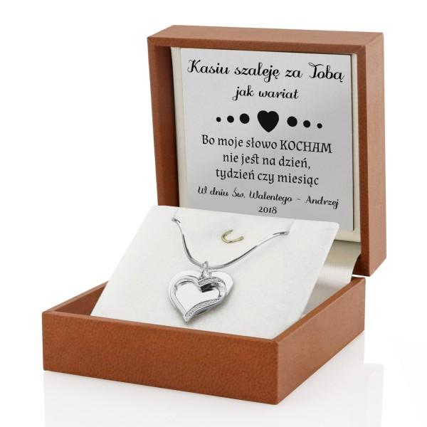srebrna biżuteria na prezent walentynkowy