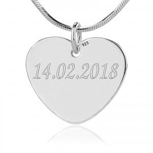 srebrna biżuteria z grawerem na prezent