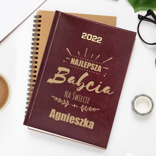 kalendarz 2022  grawerem dla babci