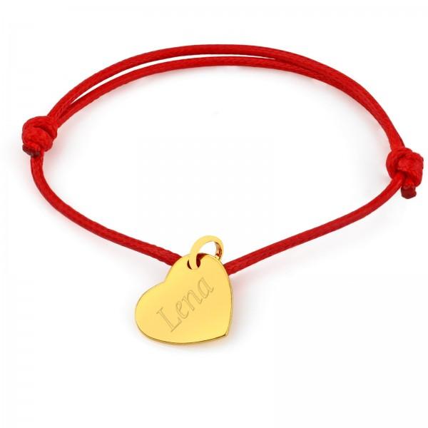 złote serce z grawerem na prezent na walentynki