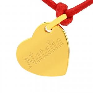 złota biżuteria z grawerem na prezent