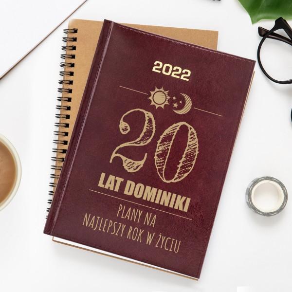 kalendarz książkowy z grawerem