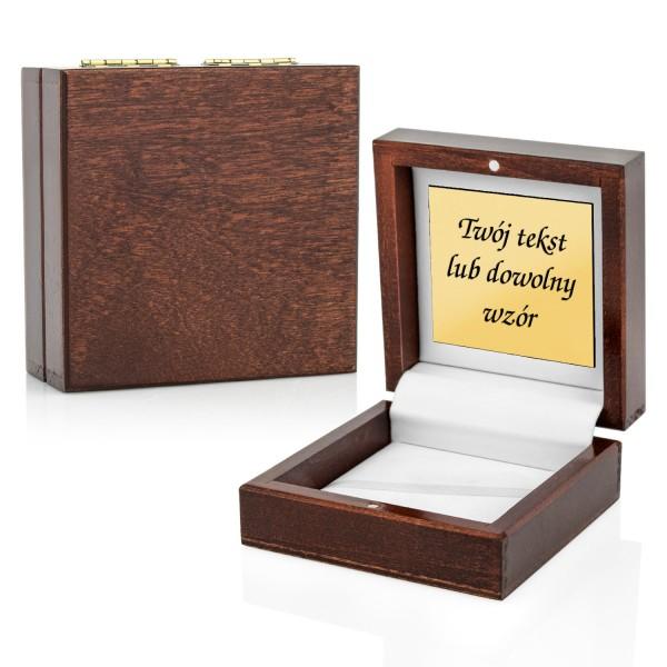 drewniane pudełko z Twoją dedykacją na spinki