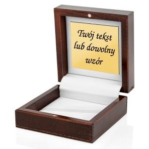 drewniane pudełko z grawerem na spinki