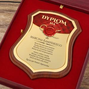 certyfikat w eleganckim etui na prezent z okazji 60 urodzin
