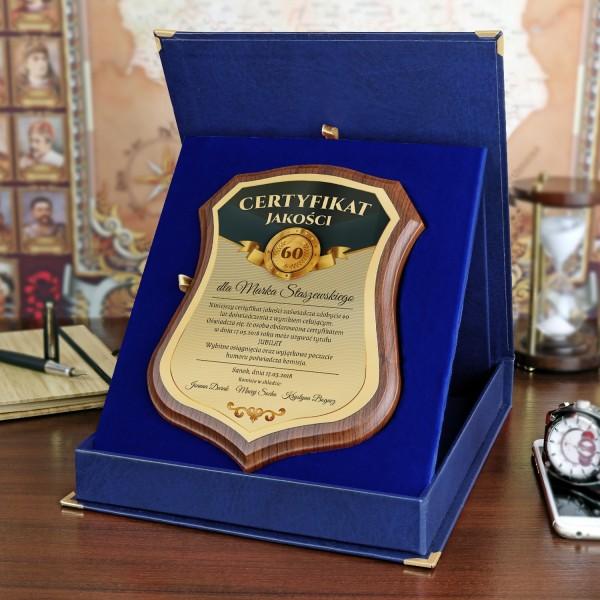 certyfikat na prezent na 60 urodziny z personalizacją
