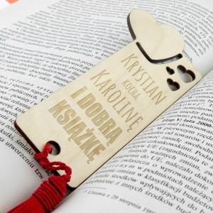 drewniana zakładka do książki na prezent