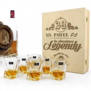 komplet szklanek do whisky z grawerem