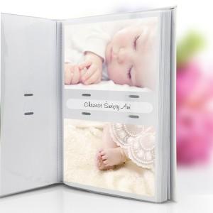biały album skórzany na zdjęcia
