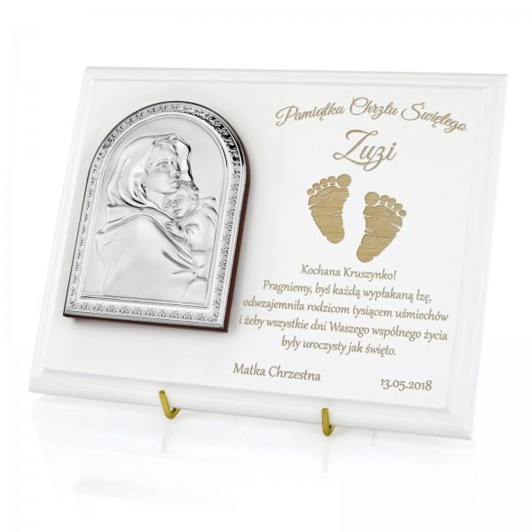 prezent na chrzest święty dla dziewczynki z grawerem dedykacji
