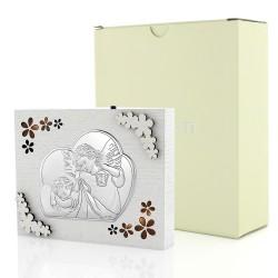 elegancki obrazek w pudełku na prezent na chrzest dla dziecka