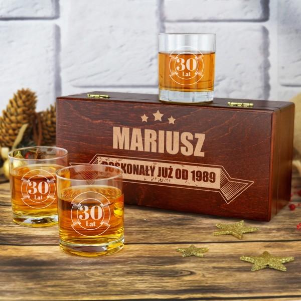 szklanki do whisky z grawerem na prezent urodzinowy