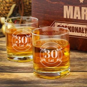 szklanki do whisky w pudełku z grawerem