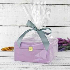 drewniane pudełko na herbatę z grawerem na prezent