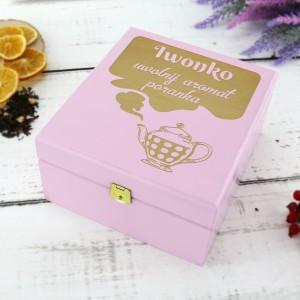 personalizowana skrzynka na herbatę na prezent