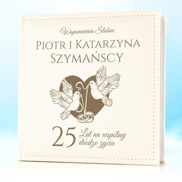 prezent na 25 rocznicę ślubu album z grawerem dedykacji