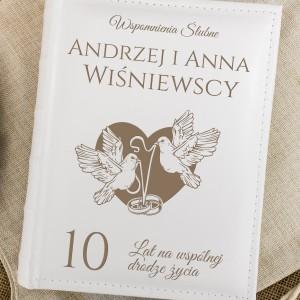 prezent na 10 rocznicę ślubu - album na zdjęcia z personalizacją