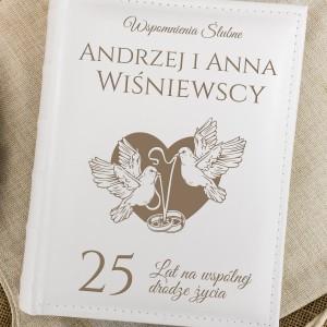 Personalizowany album na 25 rocznicę ślubu