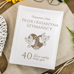 Album z personalizacją na prezent na 40 rocznice slubu